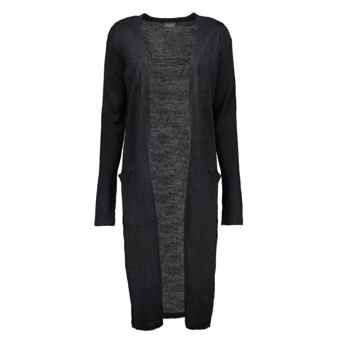 riva long knit cardigan 14015571 vila vest black