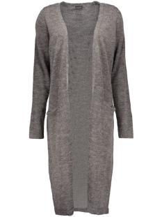 riva long knit cardigan 14015571 vila vest dark grey