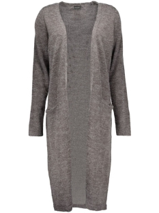 Vila Vest Riva Long Knit Cardigan 14015571 dark grey