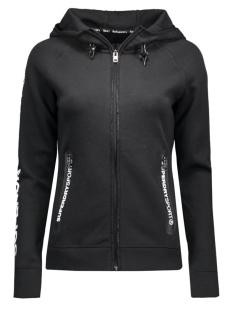 g20006pn gym tech ziphood superdry sport vest black