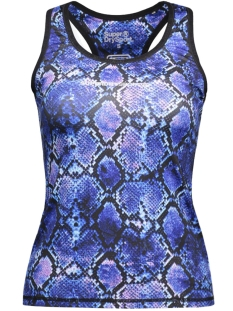 Superdry Sport top G60003PN CORE GYM TOP PURPLE PYTHON