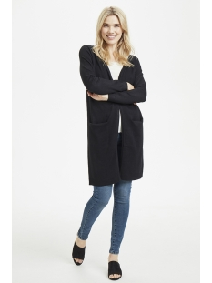 long cardigan n2675 saint tropez vest 0001 black