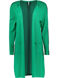 Zoso Vest ZAZA LONG CARDIGAN GREEN/BLACK