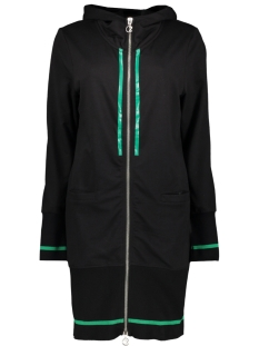 Zoso Vest JERNEY 2 SPORTY CARDIGAN BLACK/GREEN