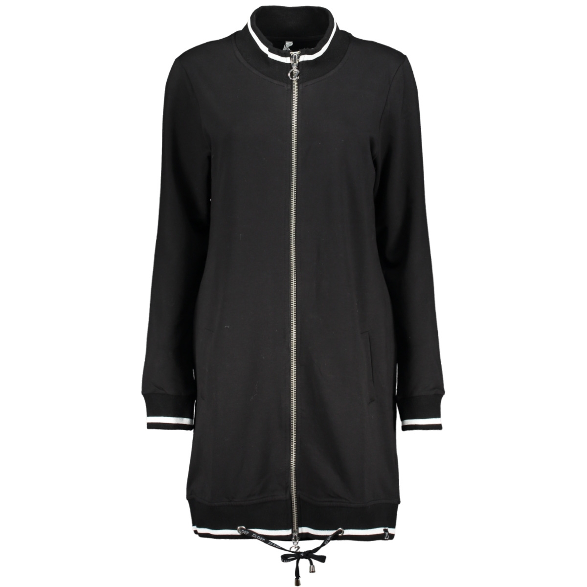 mees 2 sporty cardigan zoso vest black/ off white