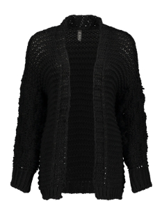 IZ NAIZ Vest 2586 KNIT CARDIGAN BLACK