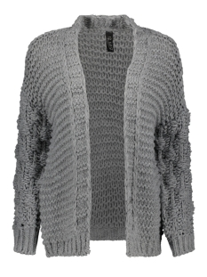 IZ NAIZ Vest 2586 KNIT CARDIGAN MEDIUM GREY