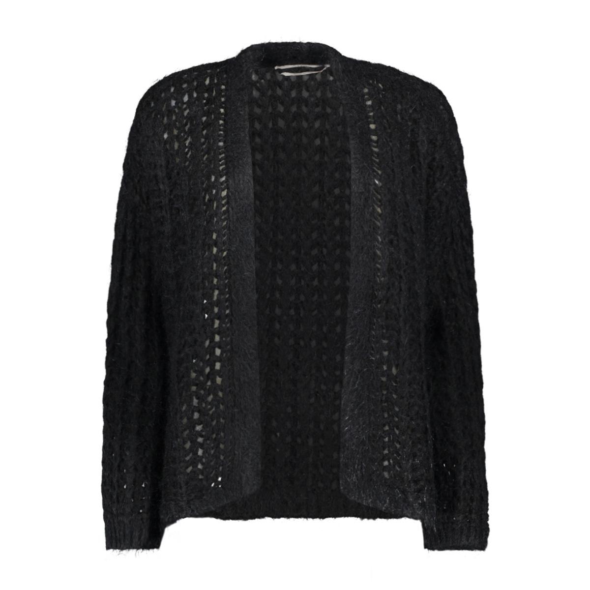 dylene rib cardigan 300 aaiko vest black