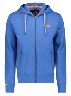 Superdry Vest M20102AT CALI ZIPHOOD ROYAL BLUE FEEDER