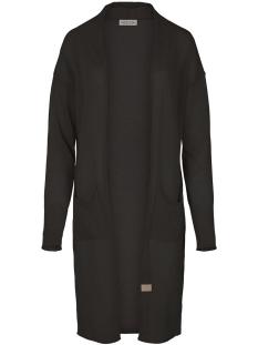 Zusss Vest 03FV19v Fijngebreid Vest Cob Off Black