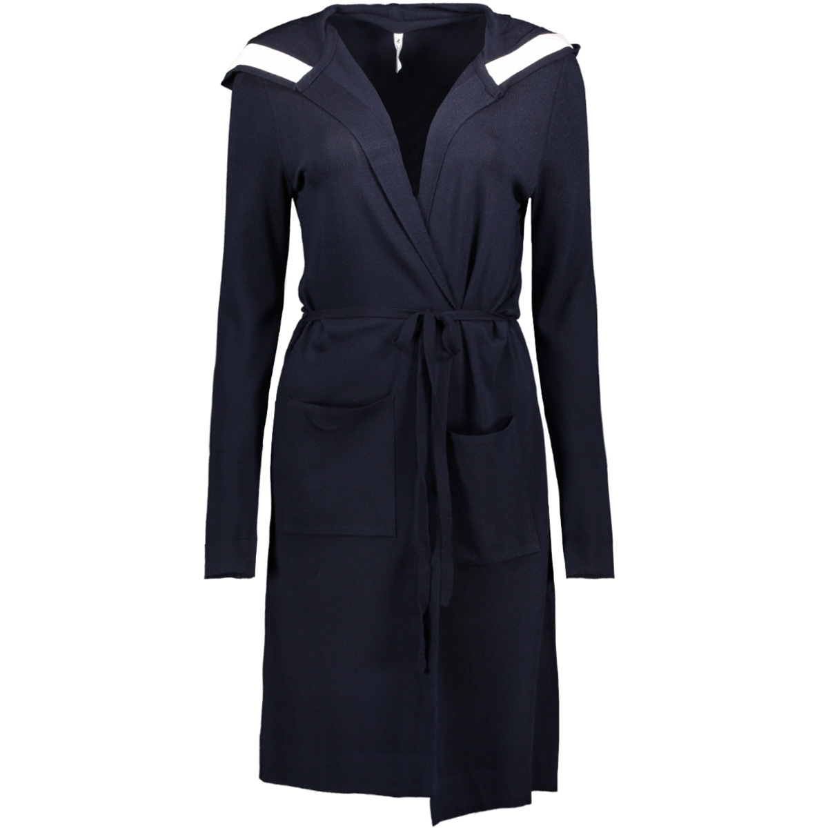 kn1905 cardigan long zoso vest navy/off white