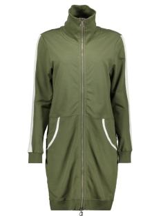 Zoso Vest SPORTY LONG CARDIGAN SR1924 ARMY/OFF WHITE