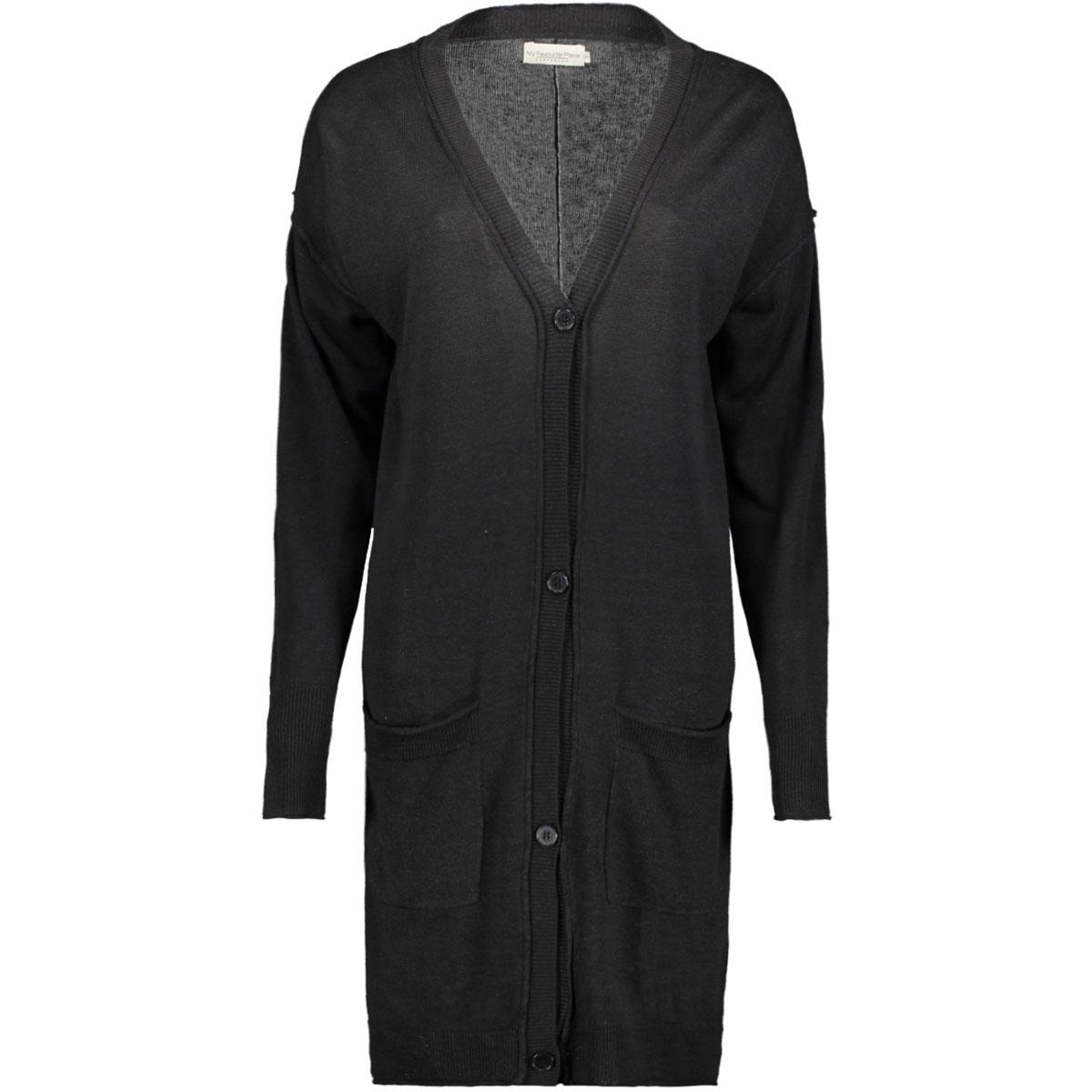 lisa cardigan 99040203 my favourite piece vest nearly black