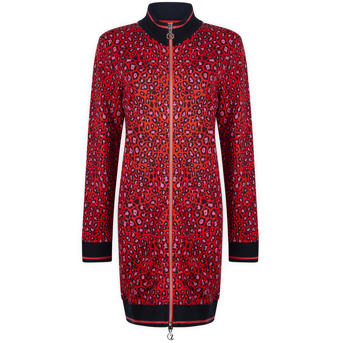 sporty cardigan sr1907 zoso jurk orange red/navy
