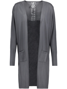 krista long knitted cardigan 192 zoso vest grey/white