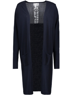 krista long knitted cardigan 192 zoso vest navy/white