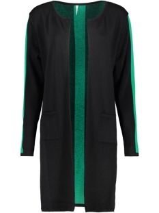 Zoso Vest ZAZA LONG CARDIGAN BLACK/GREEN