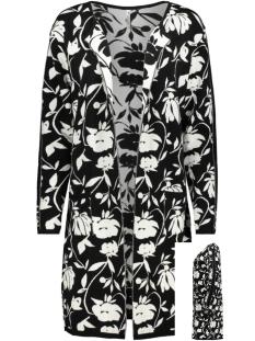Zoso Vest GWEN 194 LONG CARDIGAN BLACK/OFFWHITE