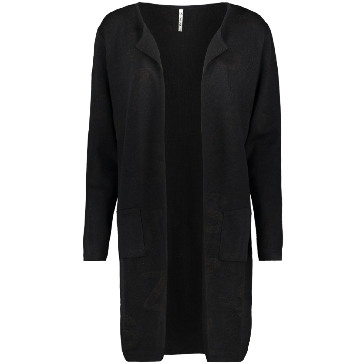 odette 194 logo cardigan zoso vest black