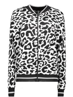 kiki leopard cardigan 194 zoso vest off white/black