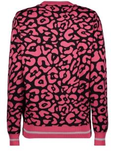 kiki leopard cardigan 194 zoso vest fuchsia/black