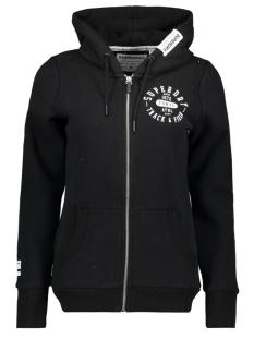 Superdry Vest TRACK & FIELD ZIPHOOD W2000050A BLACK