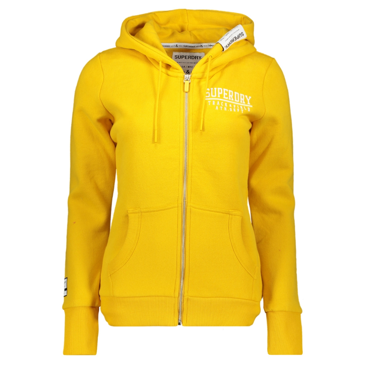 track & field ziphood w2000050a superdry vest rio yellow