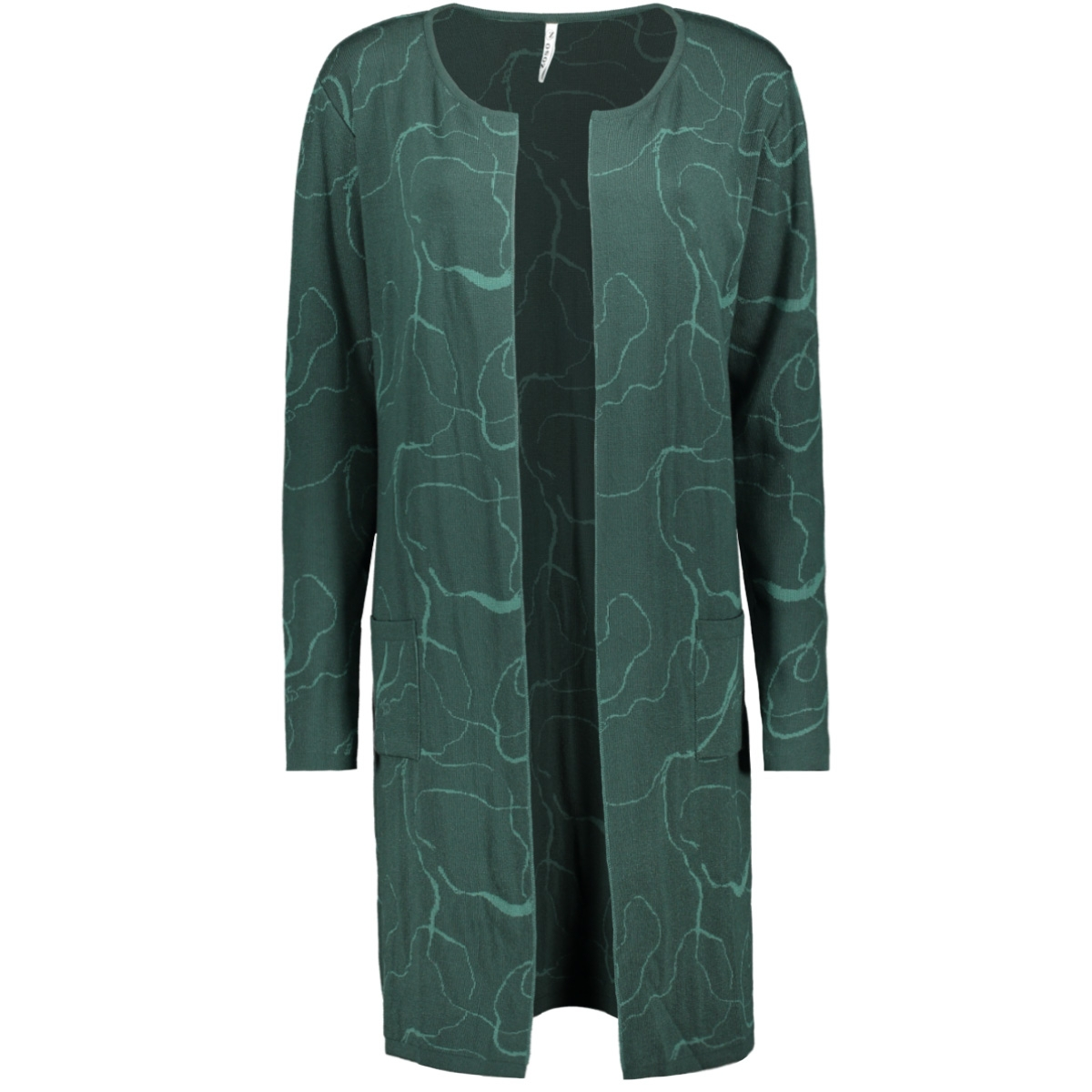 fossa knitted cardigan 195 zoso vest forest/midgreen