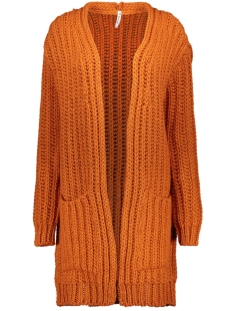 Zoso Vest 195 DYAN CARDIGAN MELANGE YAMS BURNT ORANGE