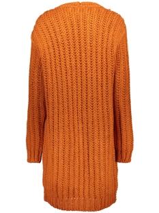 195 dyan cardigan melange yams zoso vest burnt orange