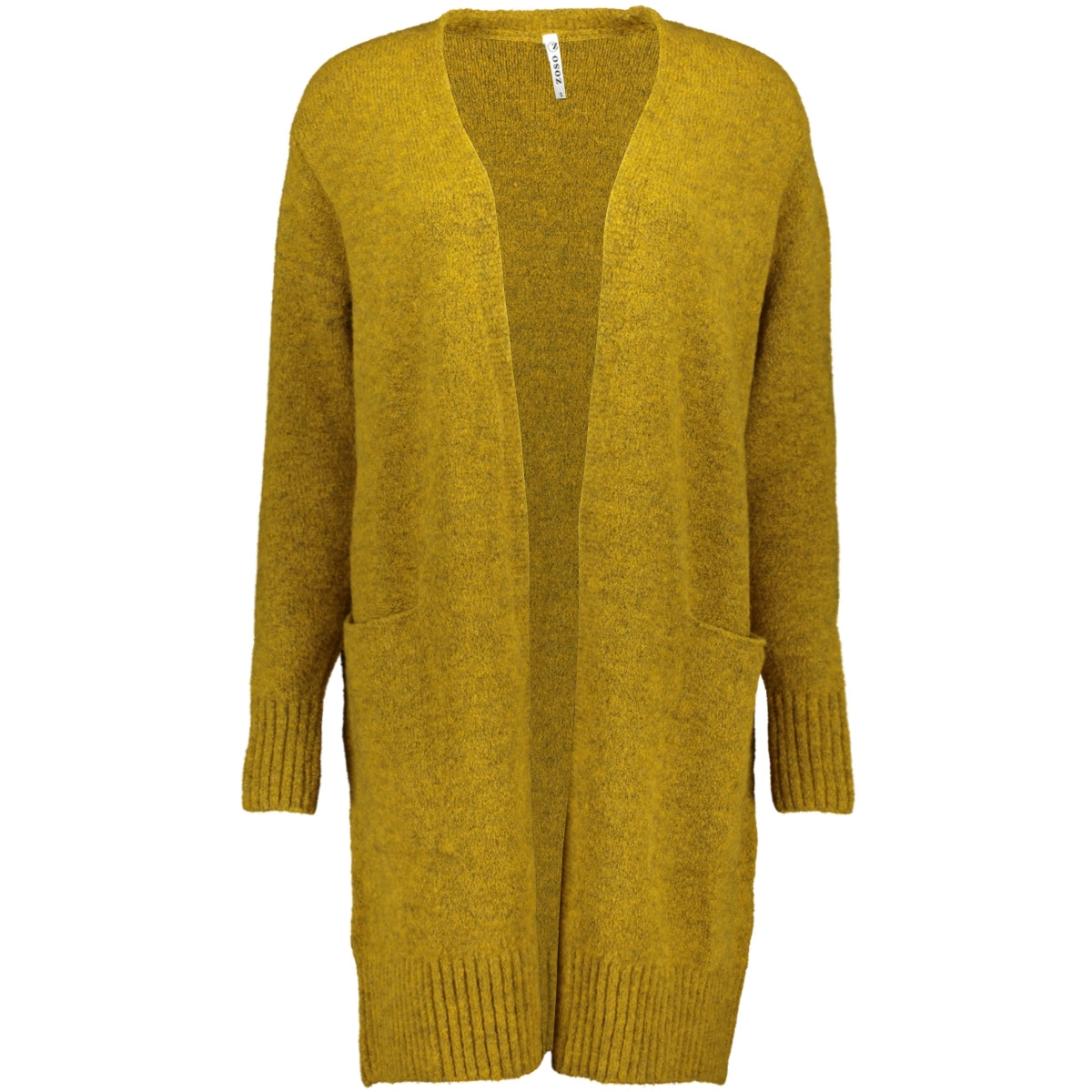 195 derby knitted cardigan zoso vest goldyellow