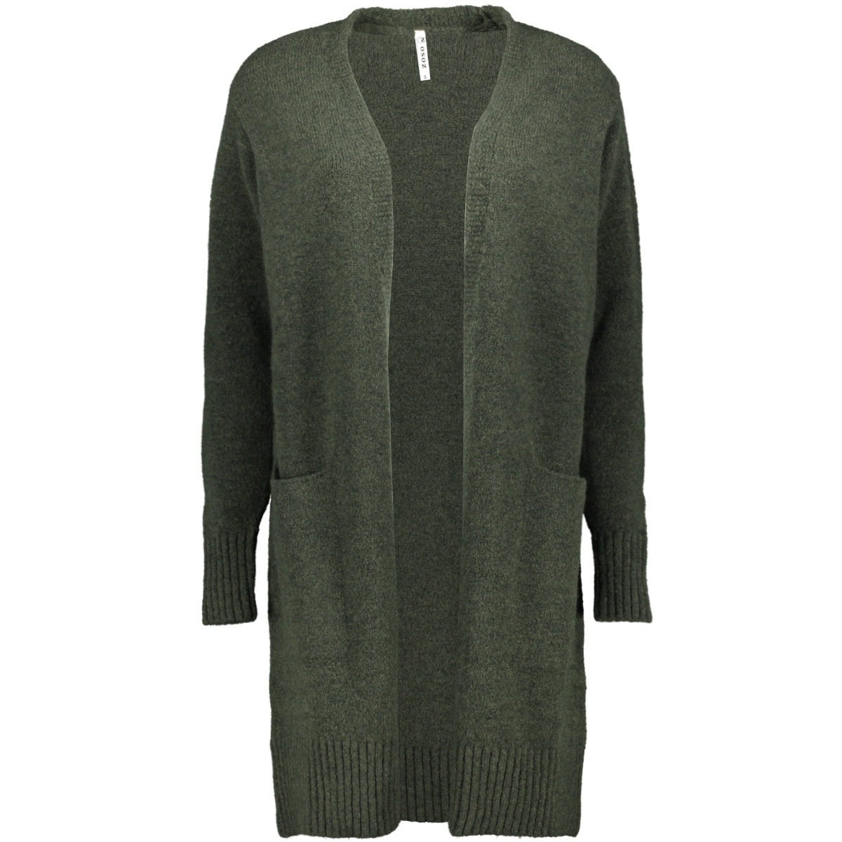 195 derby knitted cardigan zoso vest forest