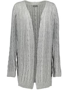 Geisha Vest CABLE CARDIGAN RAGLAN 94835 Grey Melange