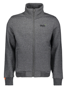 Superdry Vest ORANGE LABEL CLASSIC TRACK TOP M2010041A MID GREY TEXTURE