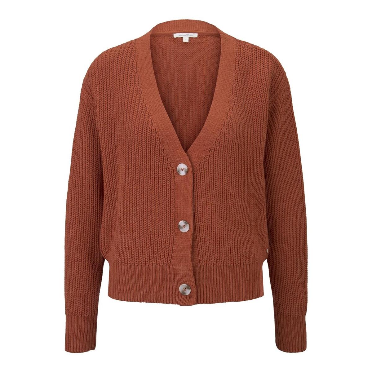 kort grof gebreid vest 1017694xx71 tom tailor vest 19759