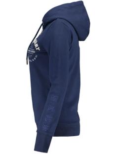applique serif ziphood ub w2010023a superdry vest richest navy