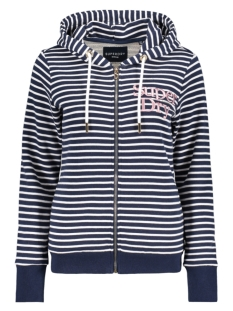 Superdry Vest APPLIQUE SERIF ZIPHOOD UB W2010023A NAVY STRIPE