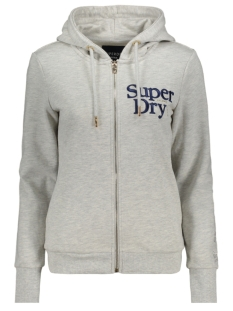 Superdry Vest APPLIQUE SERIF ZIPHOOD UB W2010023A APPLIQUE SUMMER MARL