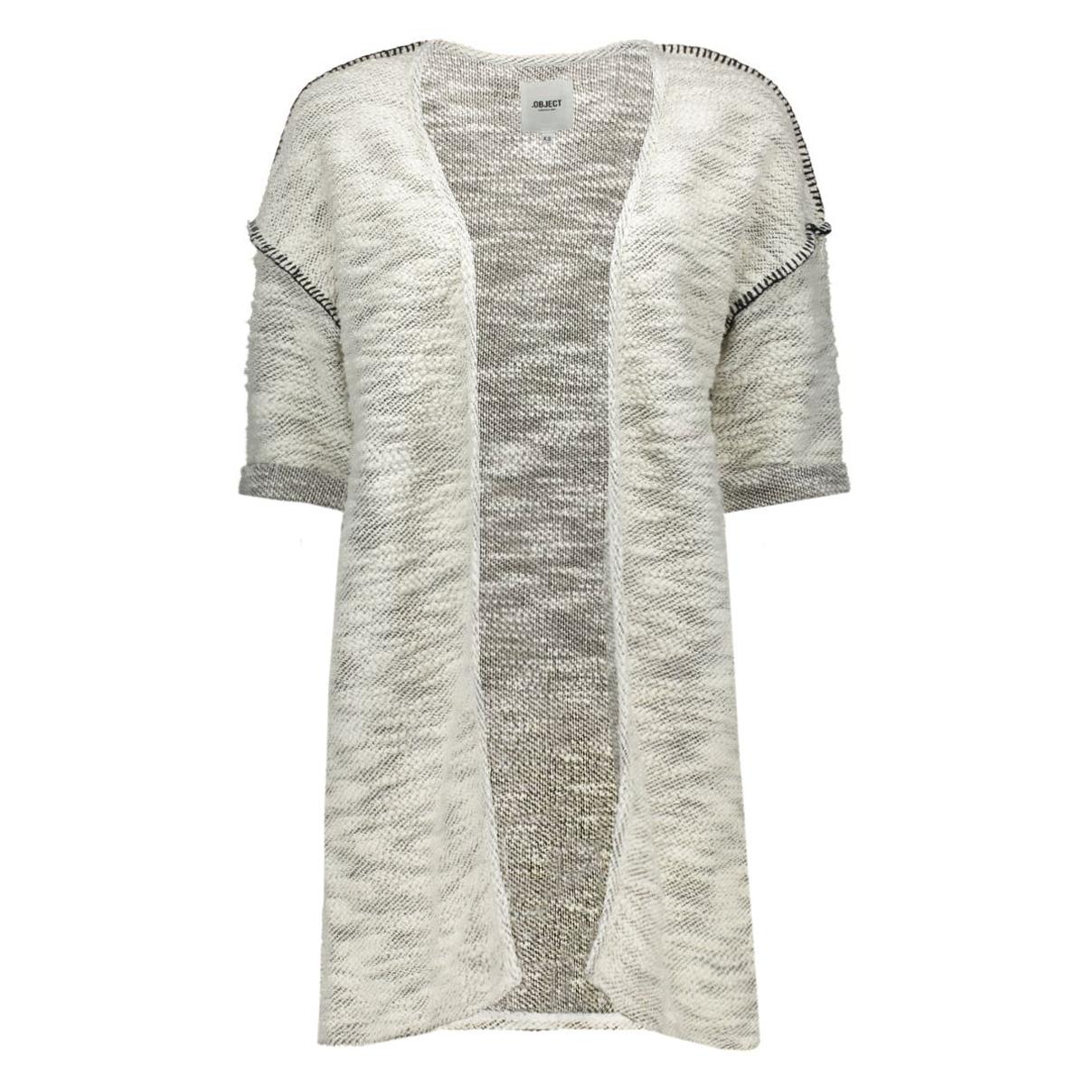 objmathilde 2/4 long sweat blazer 8 23023006 object vest gardenia