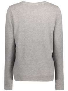 objkupo l/s sweat pullover 23024049 object sweater dark grey melange