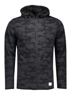 jcocamo sweat zip hood 12110172 jack & jones vest black