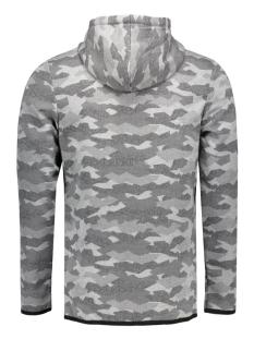 jcocamo sweat zip hood 12110172 jack & jones vest light grey melange