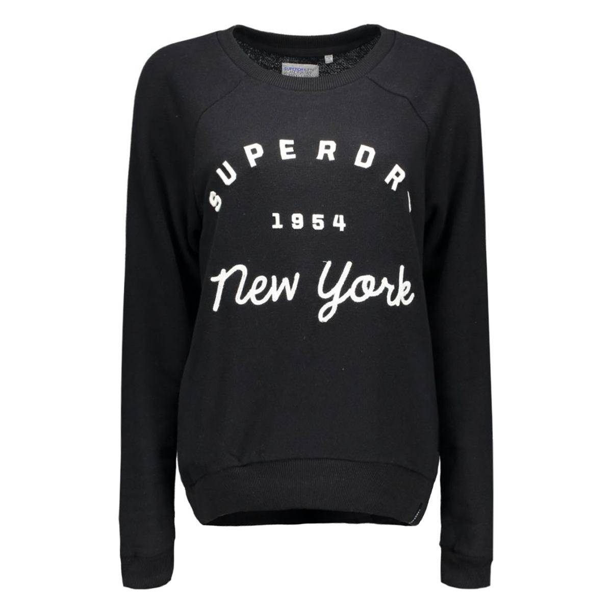 g20002pn applique raglan superdry sweater 02a black