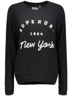 Superdry Sweater G20002PN APPLIQUE RAGLAN 02A Black