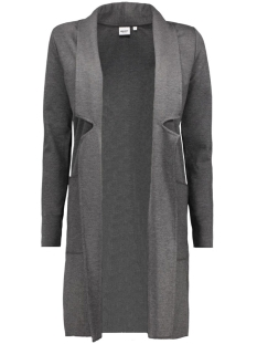 objsara long sweat blazer 23023625 object vest medium grey melange
