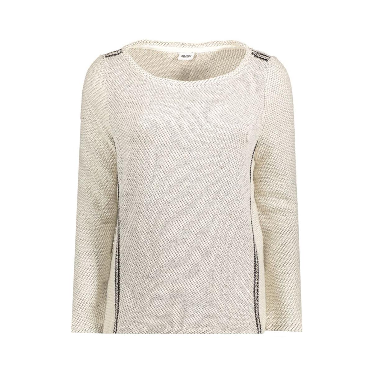 objscarlet l/s sweat pullover 87 23023090 object trui gardenia