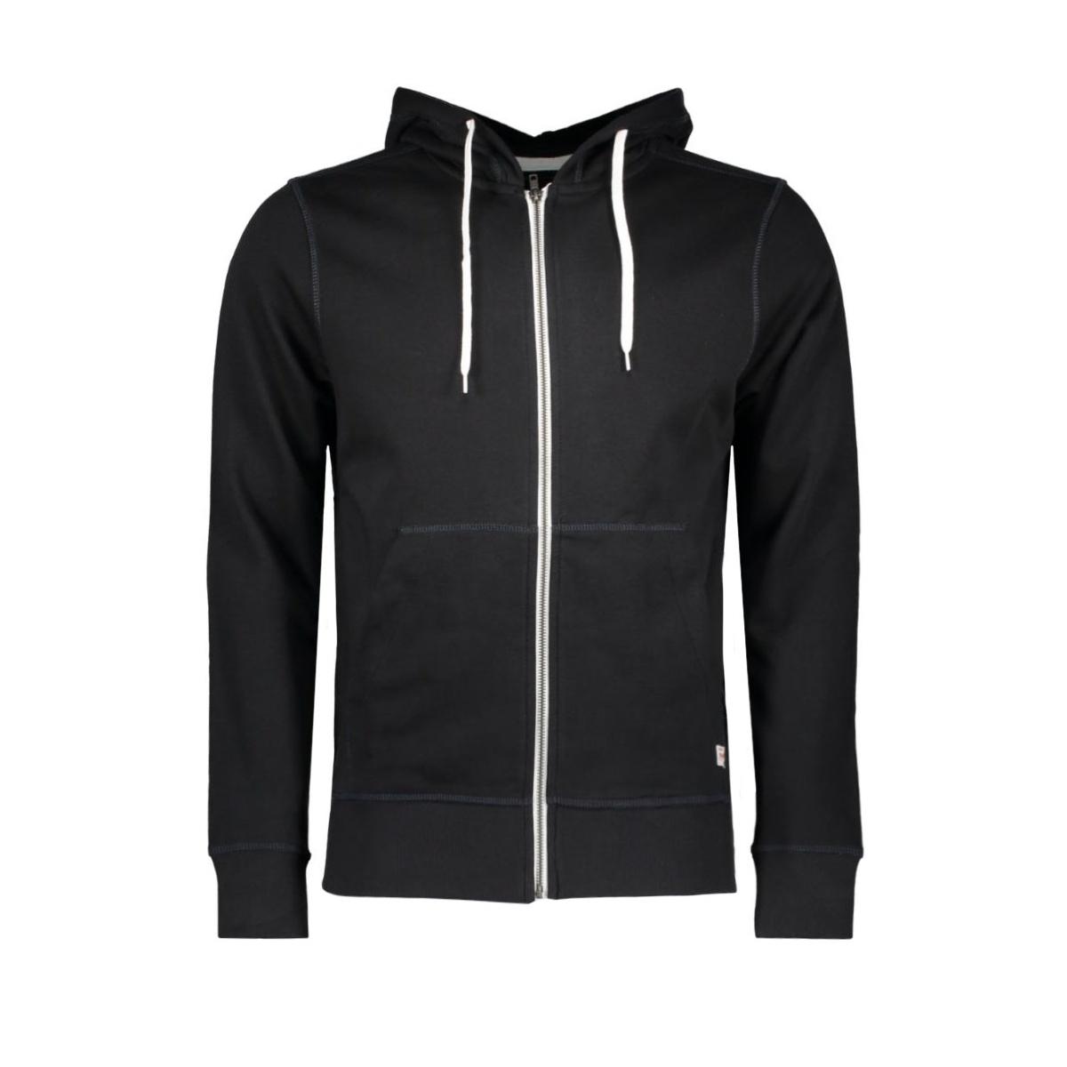 jorstorm sweat zip hood basic noos 12114955 jack & jones vest black