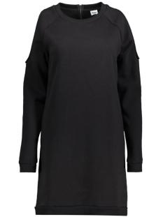Object Jurk OBJCUT L/S SWEAT DRESS 23024659 Black