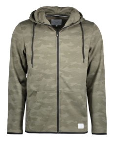 Jack & Jones Vest JCOCAMO SWEAT ZIP HOOD 12110172 Dusty Olive