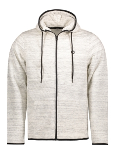 Jack & Jones Vest JCOCARBON SWEAT ZIP HOOD CAMP 12122959 White Melange